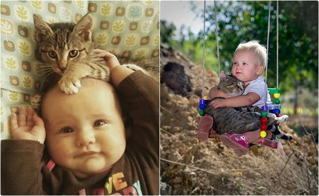 Bebeklerle Kedilerin Mutlaka Birlikte Büyümeleri Gerektiğini Kanıtlayan 9 Fotoğraf