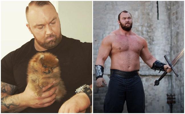 """Minicik Köpeği Olan Dünyanın En Güçlü Adamı ve Game of Thrones Oyuncusu """"Dağ"""""""