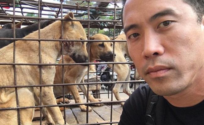 Çin'deki Köpek Yeme Festivali'nden 1000 Köpeğin Canını Kurtaran Adam Gibi Adam Marc Ching