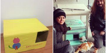 Türkiye'nin Dört Bir Yanından 19 Fotoğrafla Kış İçin Kedi Evi Yapan Güzel İnsanlar