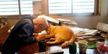 94 Yaşındaki Dedeyi Mırlamalarıyla İyileştiren Koca Yürekli Sarman