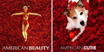 Köpeğini Ünlü Film Afişlerine Photoshop İle Montajlayan Sanatçıdan Kahkaha Garantili Çalışmalar