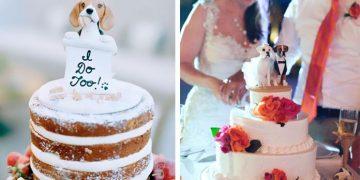 Sevimli Köpek Dostlarını Düğün Pastasına Dahil Eden 17 Mutlu Çift
