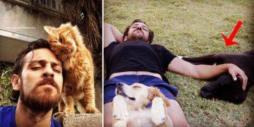 Sahiplendiği Hayvanlarla Poz Veren Çukur'un Vartolu'su 'Erkan Kolçak Köstendil'in 16 Keyifli Fotoğrafı