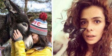 Sahiplendiği Hayvanlarla Poz Veren Özge Özpirinççi'nin 16 Keyifli Fotoğrafı