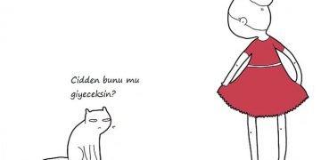 Kediler Konuşabilse Neler Diyeceğini Gösteren 8 Komik Çizim