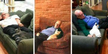 Her Gün Farklı Barınakları Gezip Kediler İle Birlikte Uyuyan Yüreği Güzel Adam